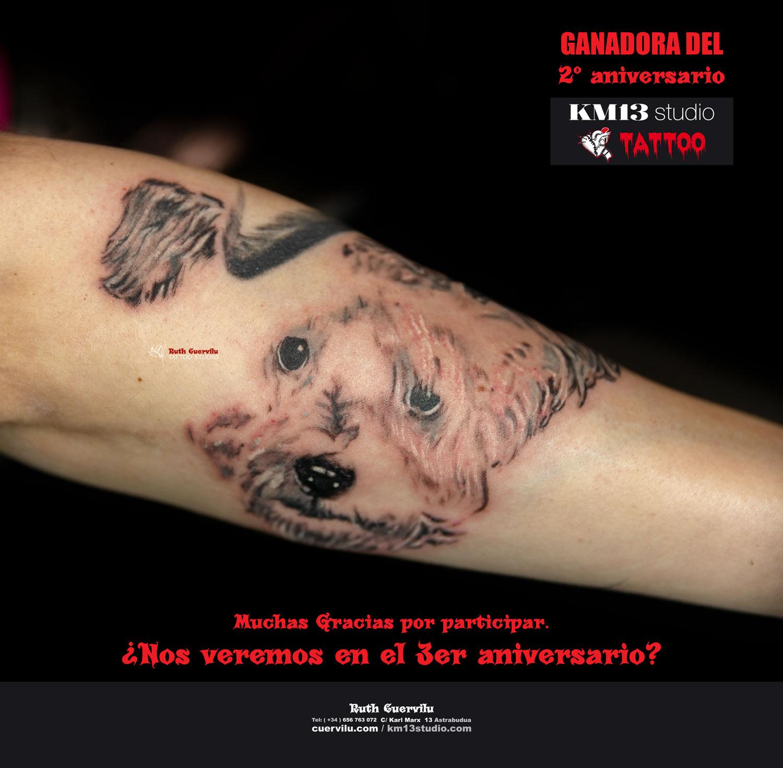 Amaia Ganadora 2 aniversario km13 studio - ruth cuervilu tattoo - estudio de tatuajes en astrabudua erandio bizkaia bilbao